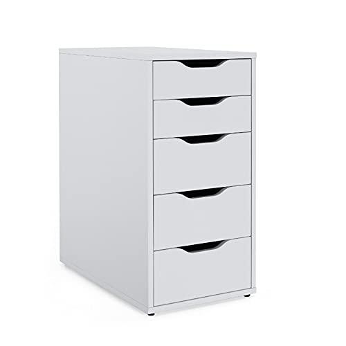 IKEA Alex Schubladenelement in weiß;...