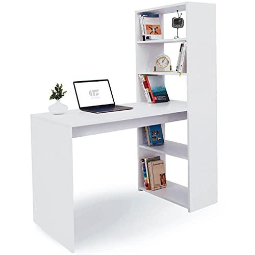 COMIFORT Schreibtisch Weiß mit Regal und...