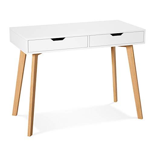Homfa Schreibtisch mit 2 Schubladen...