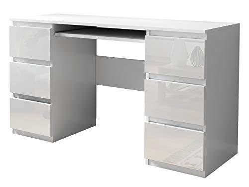 Mirjan24 Schreibtisch Glen, 6 Schubladen...