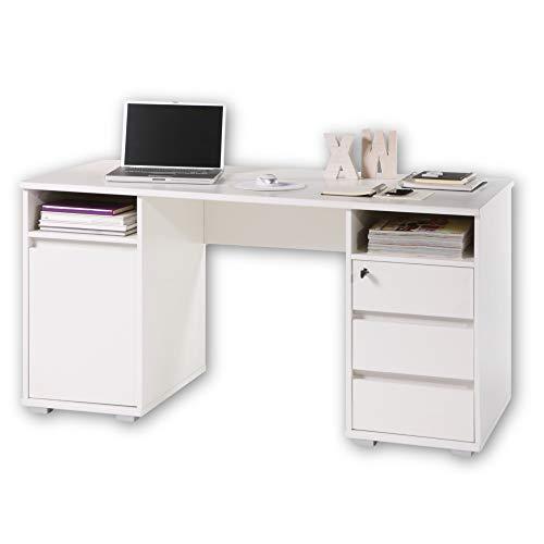PRIMUS 2 Schreibtisch mit Schubladen, Weiß -...