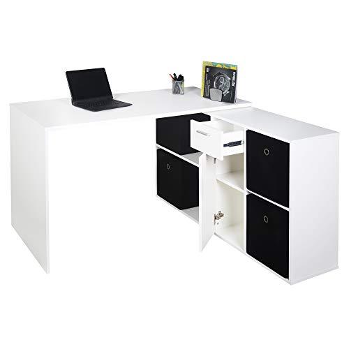 RICOO Eck-Schreibtisch Arbeitstisch...