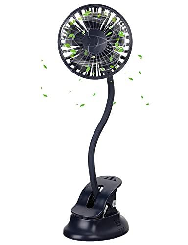 Mini Ventilator mit Clip, 360 ° Drehbarer...