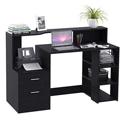 HOMCOM Schreibtisch mit Regal Computertisch...